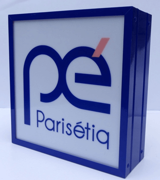 Enseigne Lumineuse magasin Paris - Caisson Bandeau Gamme Standard