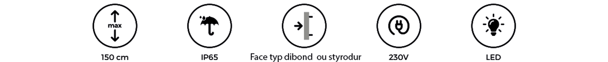 Enseigne Lumineuse 78 - tôle tablette avec lettres ajourées gamme lettres en relief