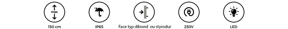 Enseigne Lumineuse 78 - tôle tablette avec lettres ajourées gamme lettres plates