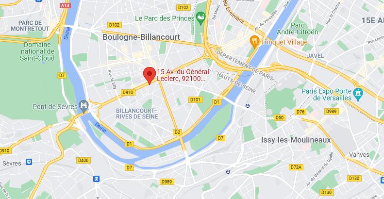 Emplacement Showroom Enseigne Paris étiq