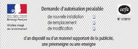 Demande Autorisation Préalable - Pose Enseigne Lumineuse Paris Étiq