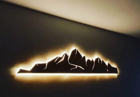 Paris étiq - Enseigne lumineuse bois 92