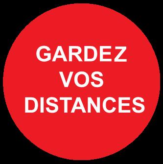 Parisétiq - Signalétique Gardez vos distances - Covid 19